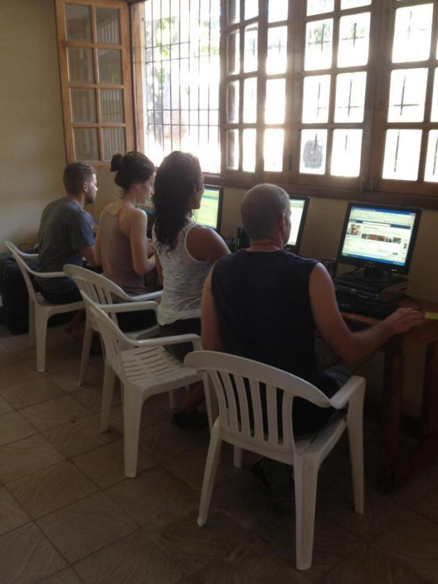 Corbin had been working on setting up internet for weeks ... maybe months.  It was beyond remarkable that he figured this out in the wilds of Haiti!