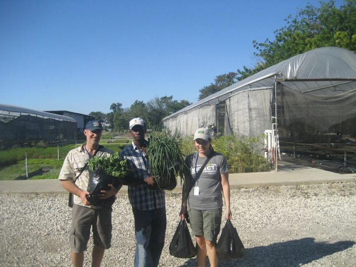 Val took me and Greg to the farm Double Harvest, where we picked up fresh produce for his children.