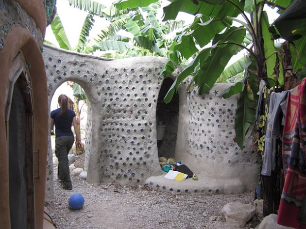 This is the bathroom. Note the luxurious real toilet - hard to come by in Haiti!