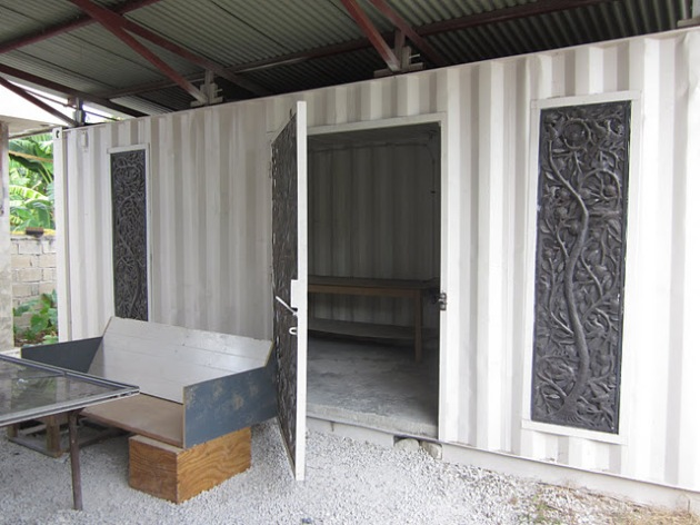 Here's another home made from giant shipping containers.