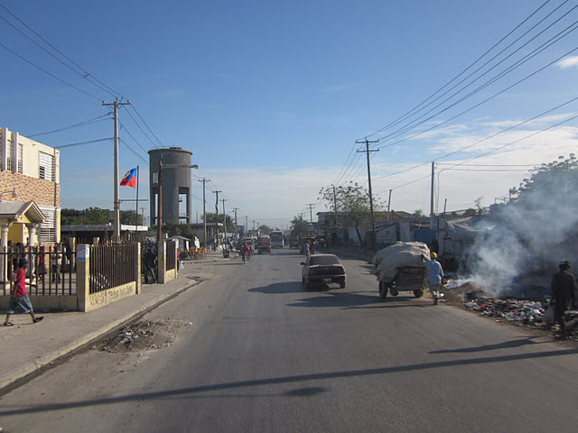 Burning trash on road sides were a common sight