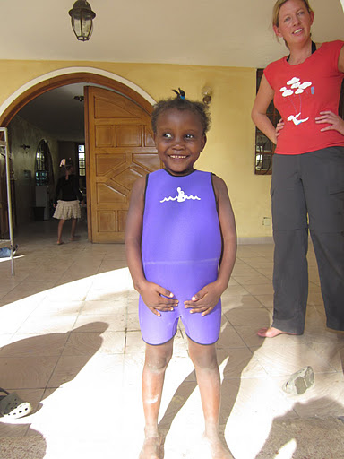This little angel is Cenlove. She was SO ADORABLE in her little wetsuit from Mission Results.