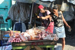 Meat at the market (Photo by Adimu Colon)